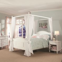 Emma 4-post Full Bed with Tall Headboard and Footboard | Overstock.com Shopping - Great Deals on Kids' Beds  THIS ONE