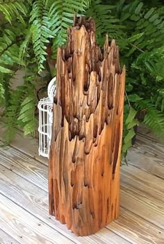9 x Tung oil with urethane sealer. Created from reclaimed original growth cypress from Fl river. Natural Creations by John Gabrielson. Driftwood Furniture, Driftwood Wall Art, Driftwood Sculpture, Pecky Cypress, Cypress Wood, Wooden Art, Wooden Decor, Wood Log Crafts, Wood Resin Table