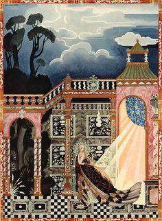 The King could not find her (Kay Nielsen) Noir-de-Fume'e Fleur-de-Neige et D'autres Contes de Grimm