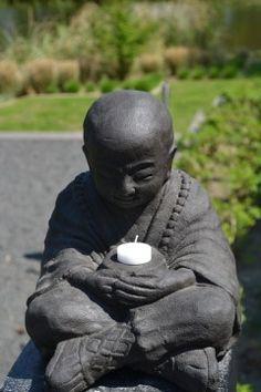 Boeddha Beeld met waxinelichthouder 30 cm