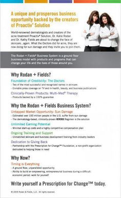 From the World Famous Doctors who created Proactiv ...   Rodan + Fields Dermatologists       http://jenw.myrandf.biz