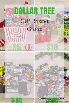 Dollar Tree gift basket guide-don't forget Dollar Tree in your holiday shopping-there's a gift basket to fit every budget! farmgirlreformed.com Family Christmas Gifts, Gifts For Family, Dollar Tree Gifts, Gift Baskets, Budgeting, Sympathy Gift Baskets, Gift Basket