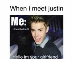 Hello im your girlfriend Justin Bieber Quotes, Justin Bieber Gif, All About Justin Bieber, He Makes Me Smile, Make Me Smile, He Is My Everything, Favorite Person, Hot Boys, Boys Who