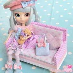 Pullip doll kawaii sofa  www.bunnykawaii.com