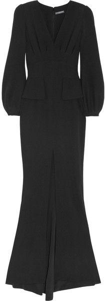 Silk cady Peplum Gown by Alexander McQueen