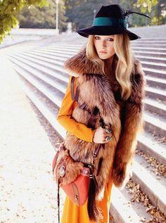 boho fur, UGH I die for this fur vest!! GAAAAHHH