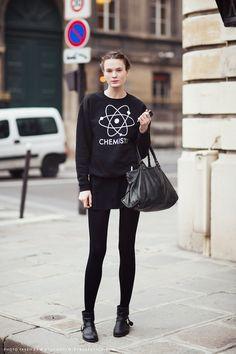 Imagens: Stockholm Street Style     Para a gente se inspirar para o próximo inverno, looks lindos nada básicos em preto....