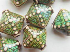 Mood Bead Mirage Bead Polymer Clay Bead Heat by gypsybeadpeddler