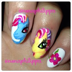 My little pony nails done by me