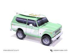 International Scout II paper model | http://papercruiser.com/downloads/international-scout-2-rallye/