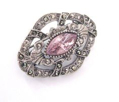 Vintage Marcasite Brooch by 1928 Jewelry by LovesVintageDelights, $24.00