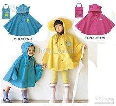 Buy cheap Smally raincoats poncho poncho cloth rain cape Burberries slickers kids' outwear raincoats with $8.3-9.02/Piece|DHgate