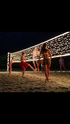 Add lights to the net for glow in the dark volleyball!!!!
