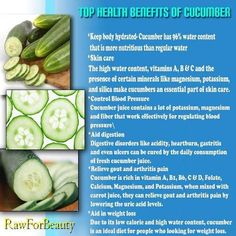 Cucumber...eat something raw every day