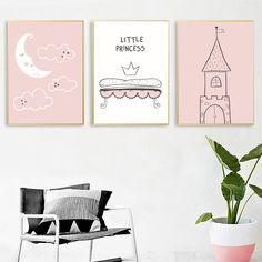 Canvas Wall Decor, Canvas Art Prints, Canvas Frame, Nordic Art, Baby Cartoon, Modern Wall Art, Poster Wall, Girls Bedroom, Minimalist