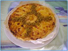 tarte pêches pistaches