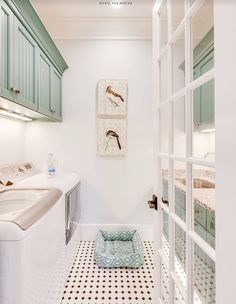 Who says that having a small laundry room is a bad thing? These smart small laundry room design ideas will prove them wrong. Laundry Room Organization, Laundry Room Design, Laundry Rooms, Laundry Closet, Mud Rooms, Laundry Decor, Laundry Area, Laundry Room Inspiration, Small Laundry
