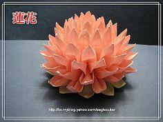 Aquila Origami: Origami del loto insegnamento grande