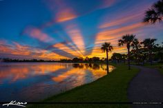Lakeside Challenger Park Sunset in Royal Palm Beach Florida