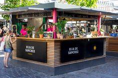 Hija de Sanchez is located in the outdoor area of Torvehallerne - the food market in Copenhagen