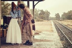 """""""Last train"""", Ondria Hardin and Jimmy Young Whitforde by Will Davidson for Vogue Australia, March 2016 Vogue Australia, Fashion Shoot, Editorial Fashion, Vogue Editorial, Women's Fashion, Editorial Photography, Fashion Photography, Colour Photography, Christine Centenera"""