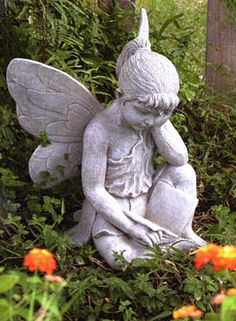 Garden Art - Fairy Sculpture - one day I will have one of these.