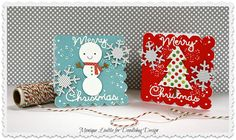 #Doodlebug: Happy Mail Challenge 3! using DB's mini Create-A-Cards and North Pole collection by Monique Liedtke