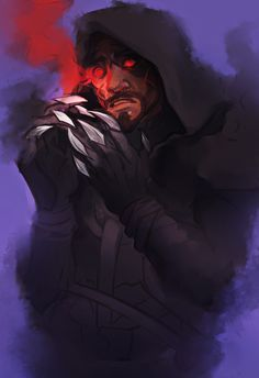 voslen: downtime doodle. sorry for being such a reaper apologist