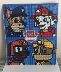 Cross Stitch Paw Patrol (Chase,Marshall,Zuma & Rubble) by Marcelle Powell ❤️