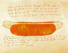 Hot Dog - Andy Warhol - 1957-58