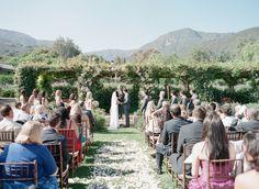 Romantic Wedding at San Ysidro Ranch  Read more - http://www.stylemepretty.com/2014/03/05/romantic-wedding-at-san-ysidro-ranch/