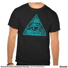Astral Evil Eye Illuminati Pyramid Symbol Tee