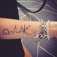 """1,743 Likes, 65 Comments - Little Tattoos (@little.tattoos) on Instagram: """"The skyline of #London and #Paris on @ohitisalotoffun #forearmtattoo #tattoo #littletattoo #girls…"""""""