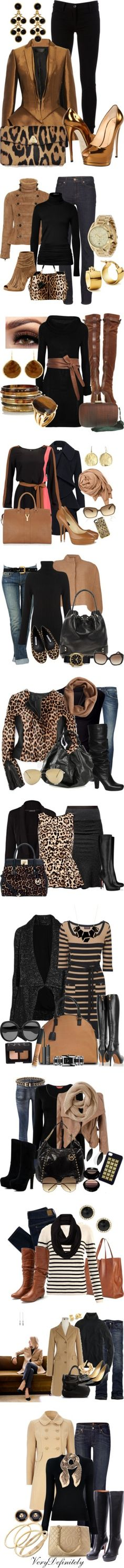 """""""A Little Camel With Your Black."""" by esha2001 ❤ liked on Polyvore"""
