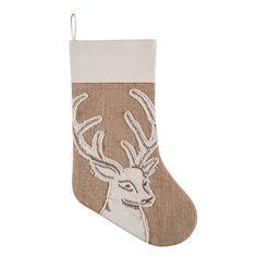 "Amazon.com - Rustic Burlap Deer 20"" Stocking -"