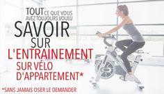 Conseils d'entrainement sur vélo d'appartement