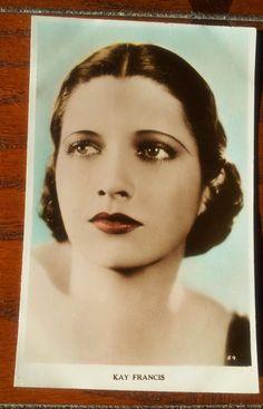 Kay Francis rp real photo postcard