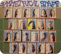 Students draw the other half of the staff members...Symmetry
