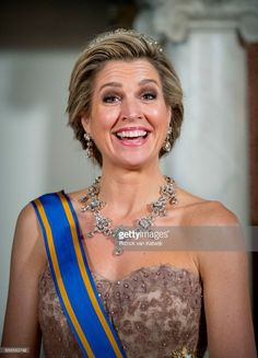 Queen Maxima of The Netherlands host an state banquet for President Mauricio Macri of Argentine and his wife Juliana Awada at the Royal Palace on March 27, 2017 in Amsterdam, The Netherlands. The President of Argentina is in the Netherlands for a two-day official state visit.
