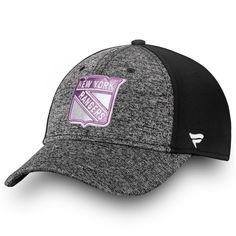 355b370faecb30 Men's New York Rangers Fanatics Branded Black/White 2018 Hockey Fights  Cancer Speed Flex