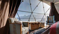 Whitepod Hotel, Switzerland  Photographer: Vincent Hofer | Jean-Marc Palisse – Designer: Angelique Buisson