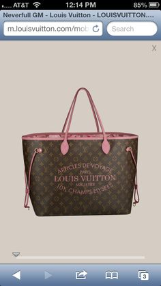 Most fav Louis ever! Goyard Handbags, Louis Vuitton Neverfull Gm, Totes, Diva, Pandora, Arm, Monogram, Mood, Candy