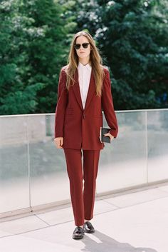 Ashely Owens of Grandpa Style at New York Fashion Week SS 2014....Via Vanessa Jackman. #Menswear #suit