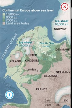 Doggerland: A land bridge between Great Britain, France and the Netherlands