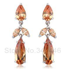 free ship Zircon earrings popular Korean version of the exaggerated retro Austrian crystal earrings $5.98