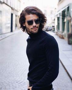 31 Impressive Mid-Length Hairstyles For Men Medium Length Hair Men, Medium Hair Cuts, Medium Hair Styles, Mens Mid Length Hairstyles, Creative Hairstyles, Cool Hairstyles, Surf Hair, Growing Your Hair Out, Men Hair Color