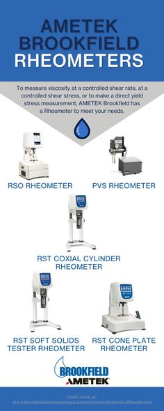 AMETEK Brookfield Rheometers are suitable for all industry applications. To measure viscosity at a controlled shear rate, at a controlled shear stress, or to make a direct yield stress measurement, AMETEK Brookfield has a Rheometer to meet your needs. To learn more about our line of Rheometers, visit our website. Meet You, Learning, Centre, Europe, Website, Studying, Teaching, Onderwijs