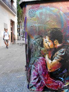 Street art by C215 in Barcelona, Spain #streetart #art #graffiti