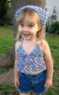 Toddler Halter Top...nettie needs this..i think from crochet thread, instead of yarn, though.....