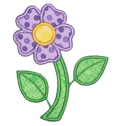 This free embroidery design is a purple flower. Thanks to Embroidery Boutique for sharing it.